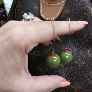 Limited Michael Godard Inspired Olive Earrings.